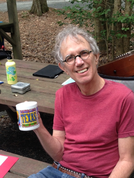 Billy with a Texas Mug in Pocomoke State Park in Maryland.