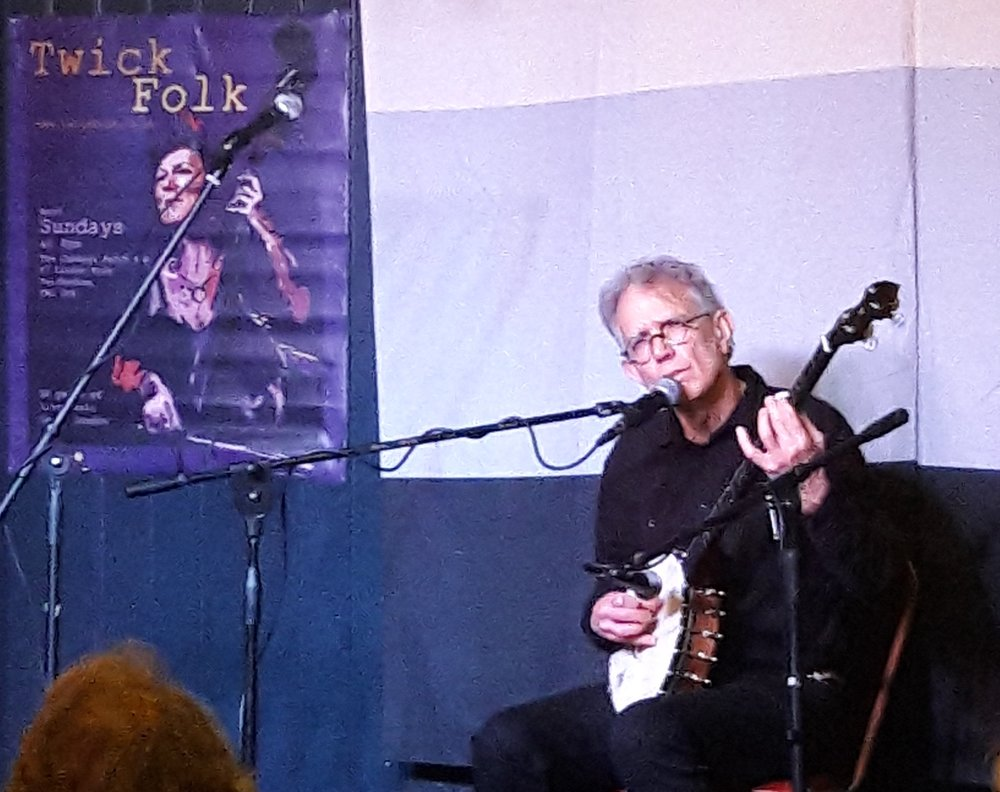 Billy at The Cabbage Patch for Twickfolk in London, October 15, 2017