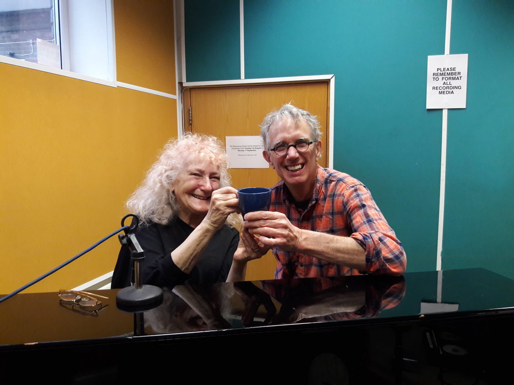 Carole Finer and Billy Kemp at Resonance Radio for Sound Out, October 9, 2017