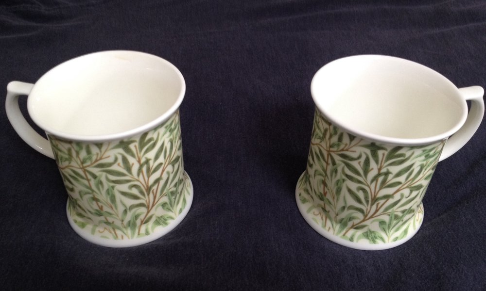 The two William Morris china mugs from Val H.