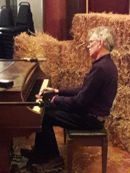 Billy at the piano on the Wirral at West Kirby Arts Center