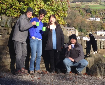 Billy, Sue, Alison, Rick and one of their two great cats, Caeser or Pompey