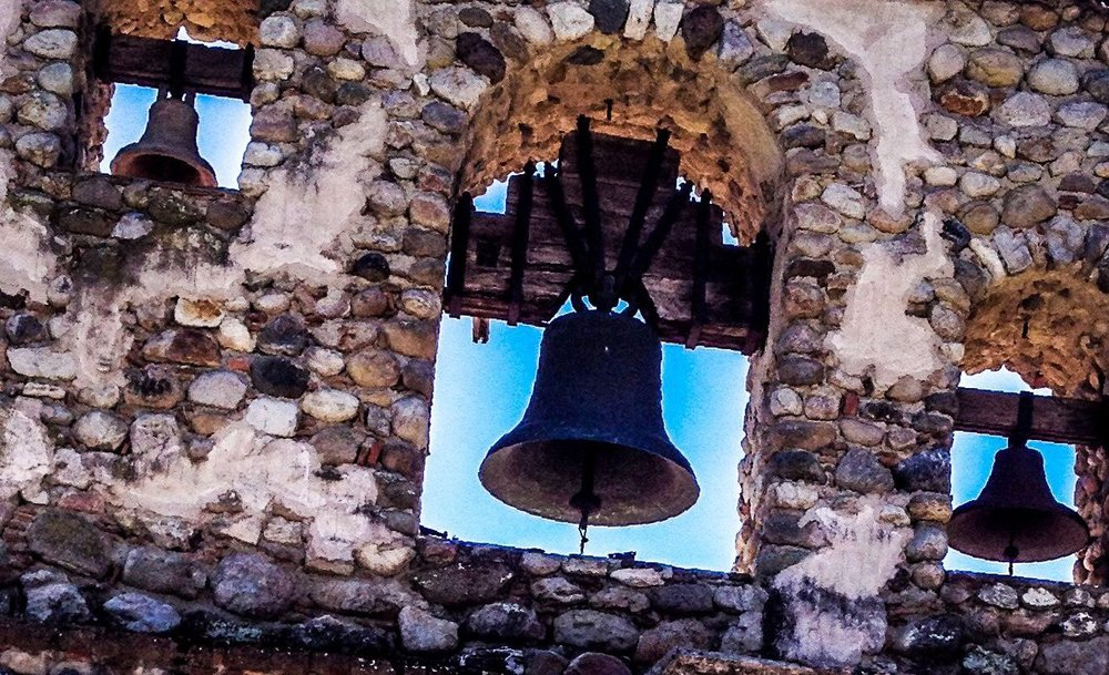 The bells at the Mission San Miguel...