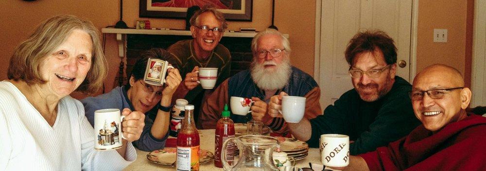 mug shot with Anet, Sue, Billy, Charley, Craig and Geshe in Atascadero